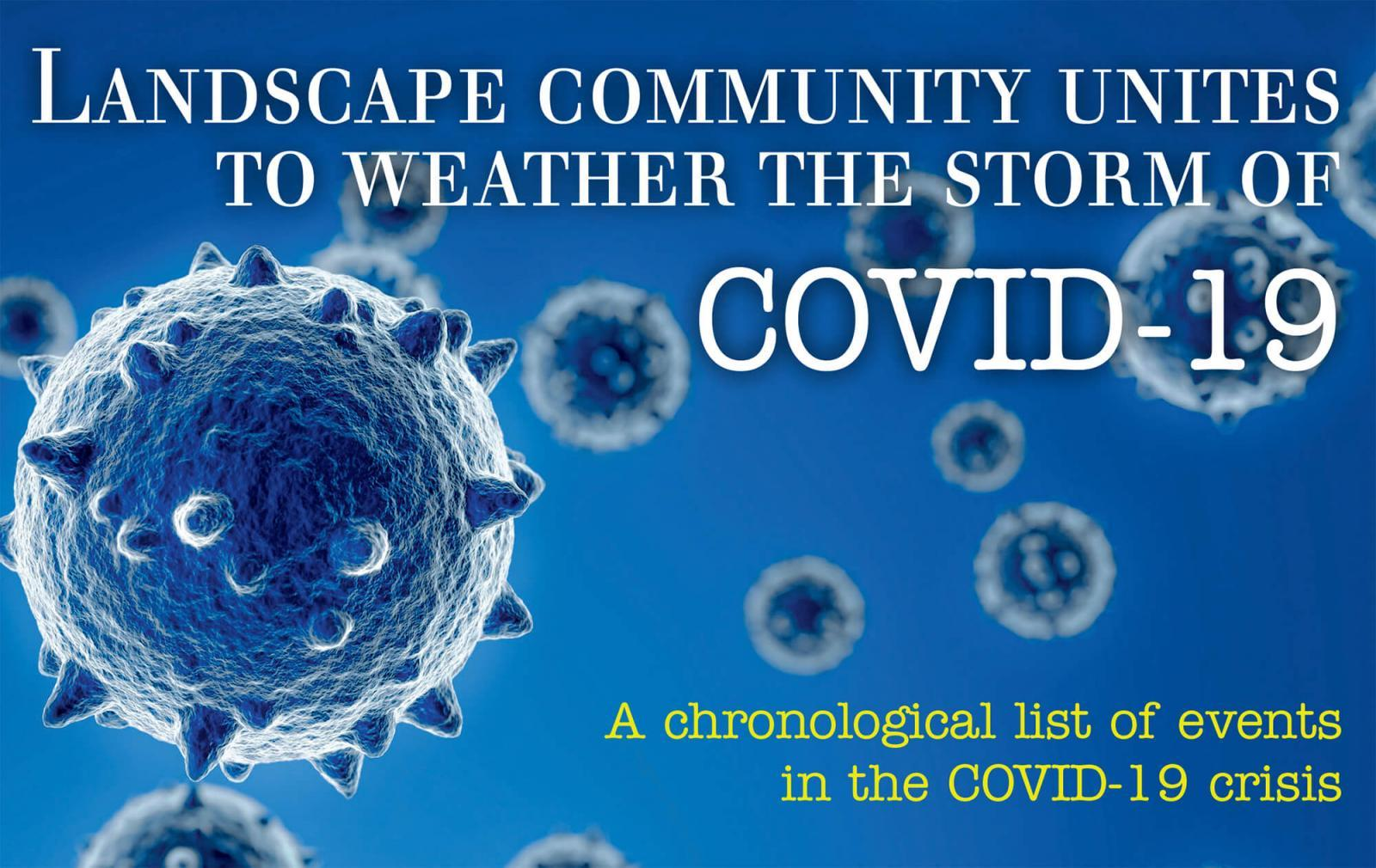 Landscape community unites to weather the storm of COVID-19