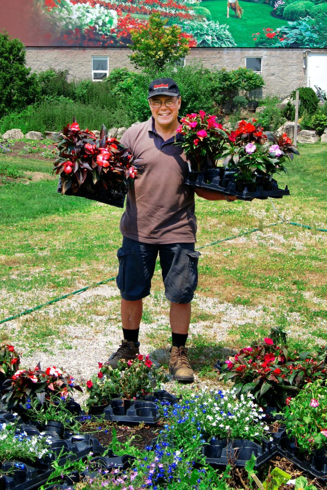 Rodger Tschanz has planted a huge number of new varieties in this year's trial gardens.