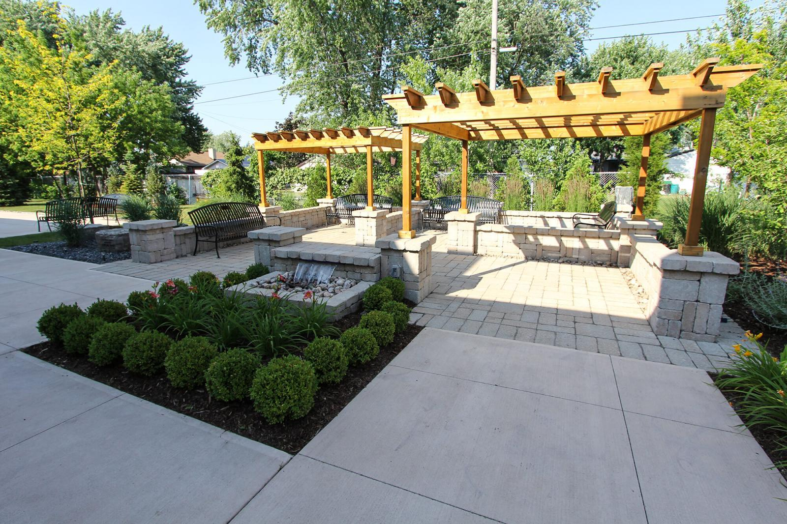 Windsor Chapter created a beautiful garden at The Hospice of Windsor and Essex County.