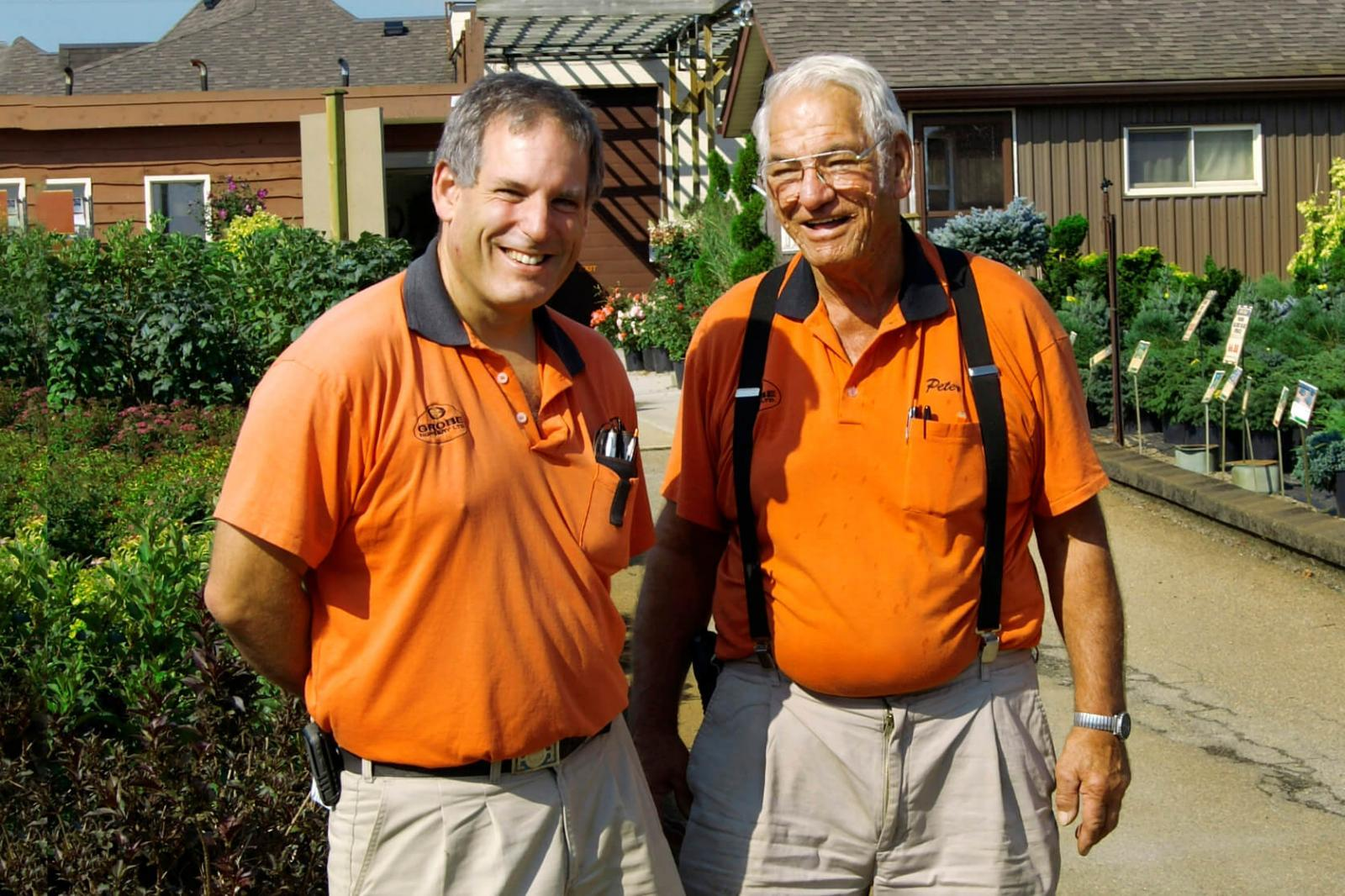 Son and father, Perry and Peter Grobe, are proud of their business's growth over the past 50 years.