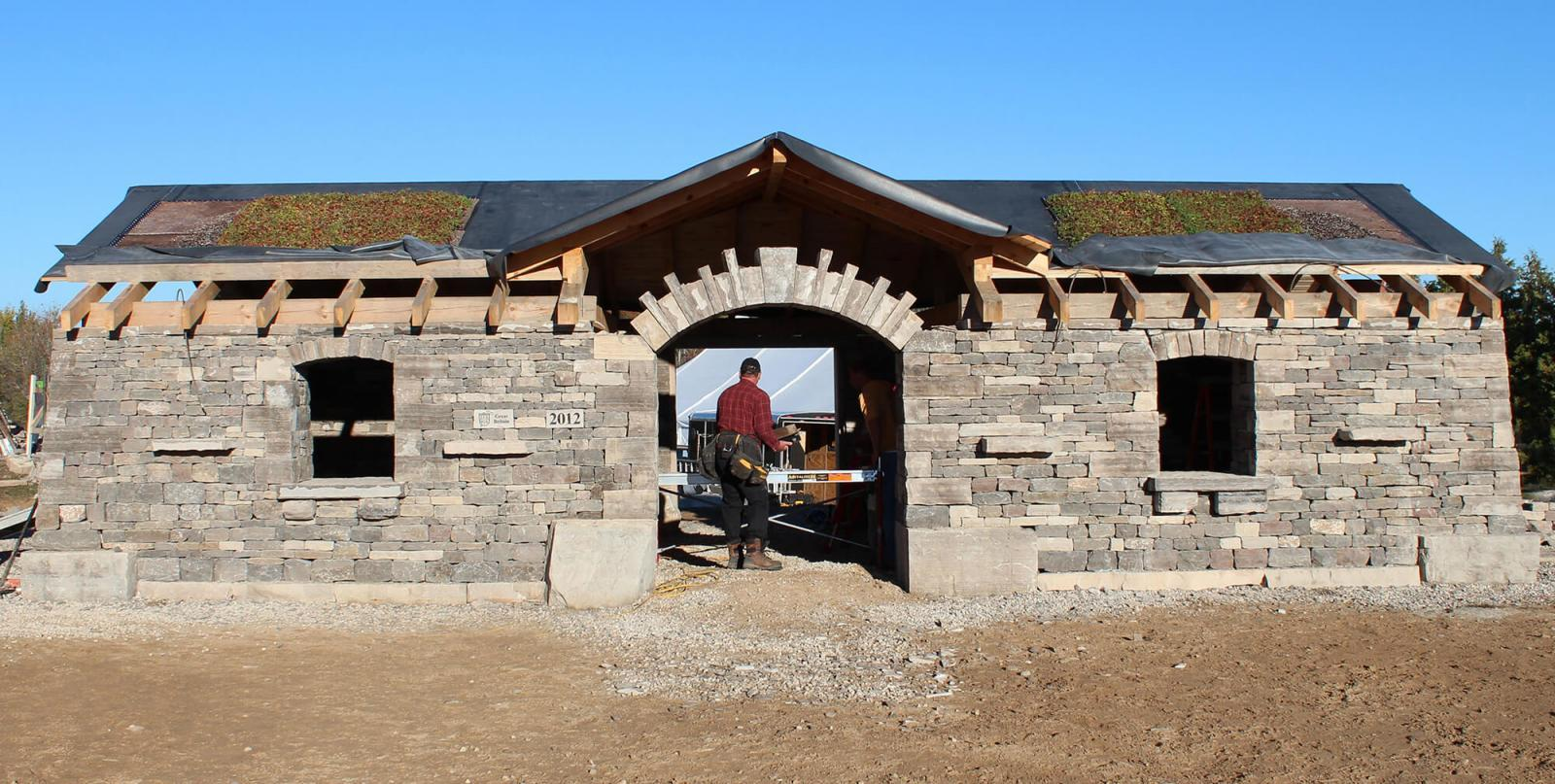 A dry stone masterpiece now resides in Hanover, Ont.