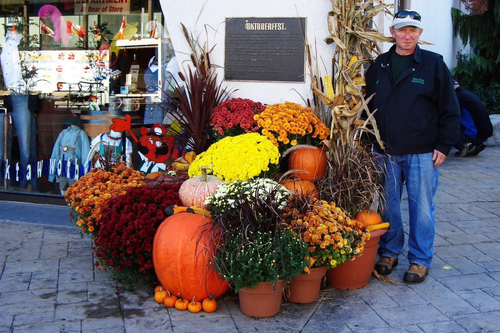 Frank Freiburger and his staff at Freiburger Landscaping in Kitchener each year decorate the local tourism office during Oktoberfest.