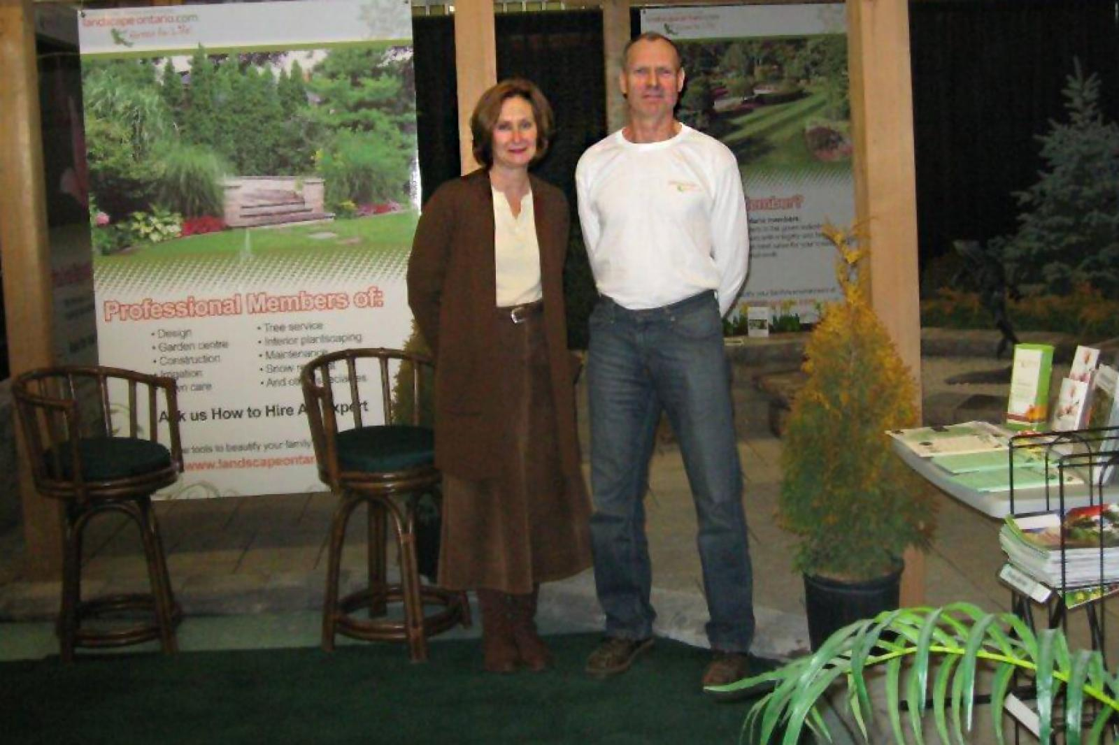 The London Chapter booth promoted LO members and the Chapter garden tour this July 9.