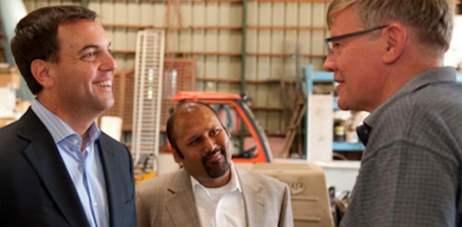 Conservative leader visits LO member