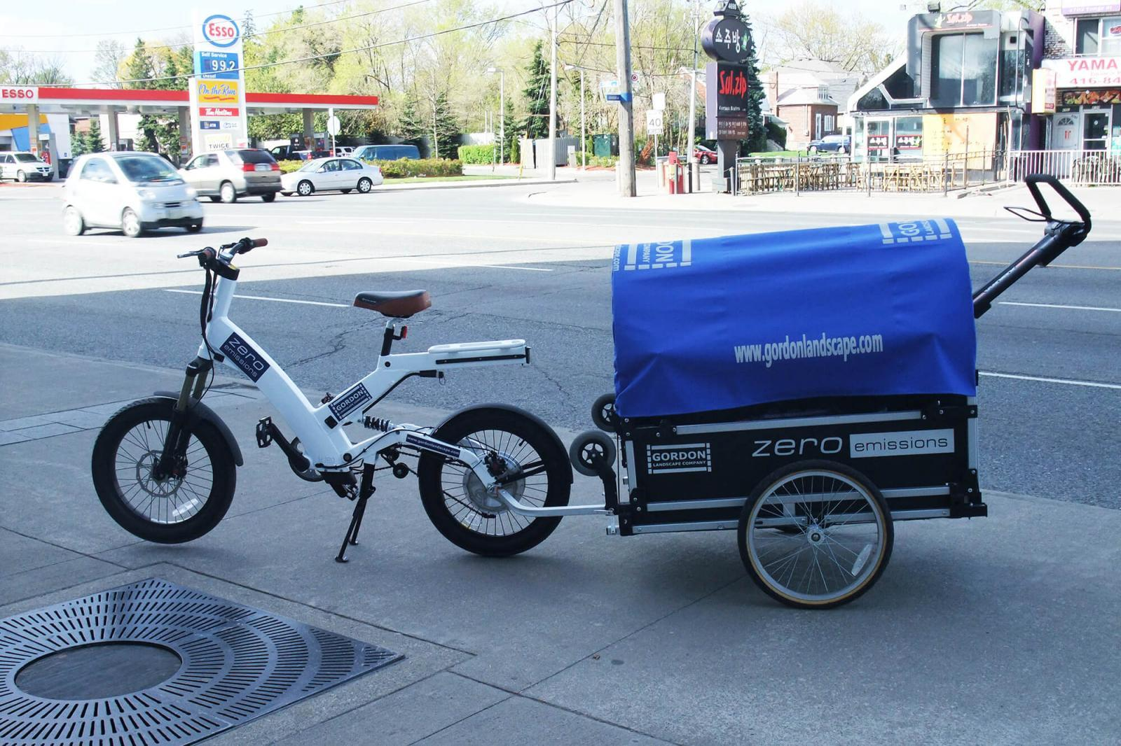 Street-legal electric bicycles are the mode of transportation for the Zero Emissions Team.