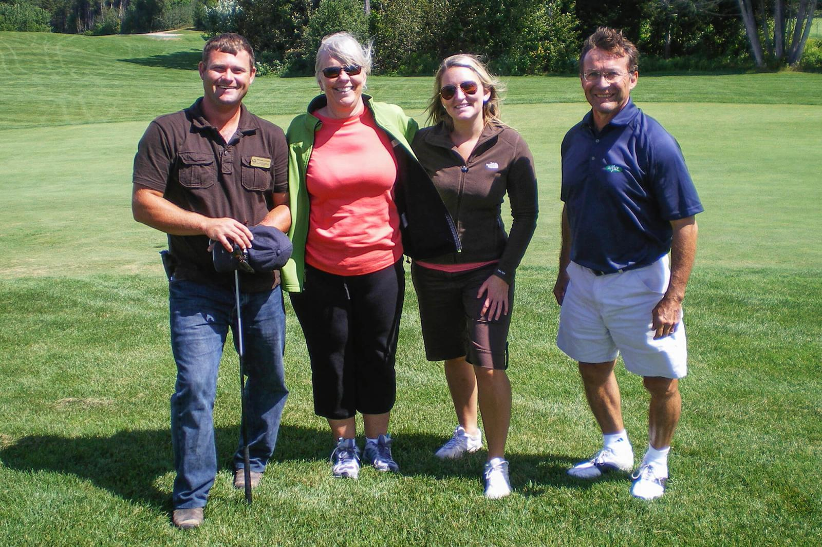 Georgian Lakelands chapter president Michael LaPorte with Lois Pudden, Courtney Melton and John Renaud at the chapter's golf tournament.