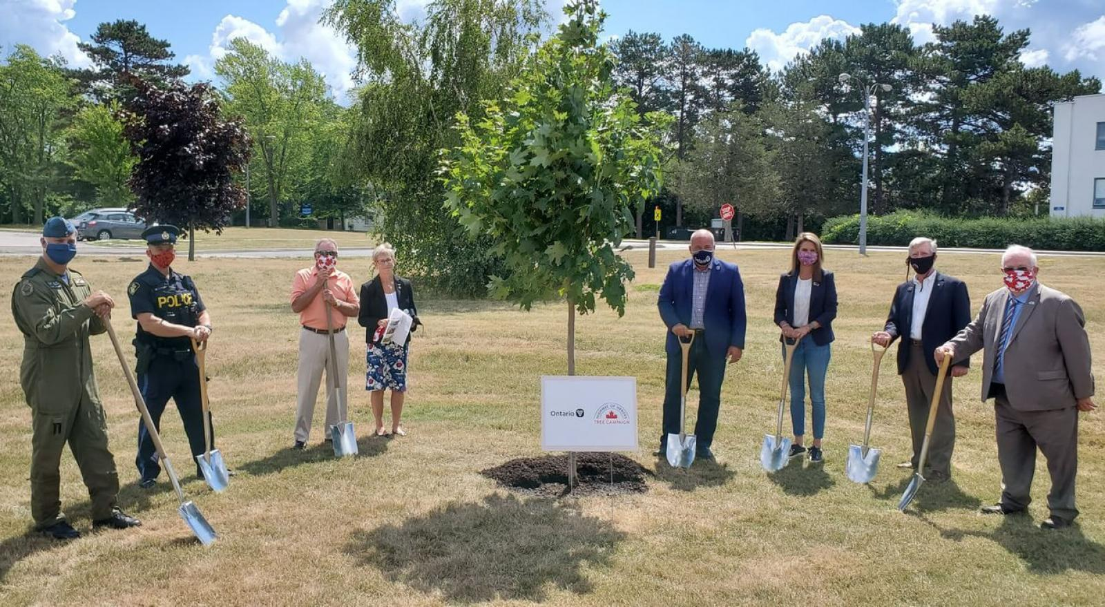 Ontario government supports Highway of Heroes tree planting