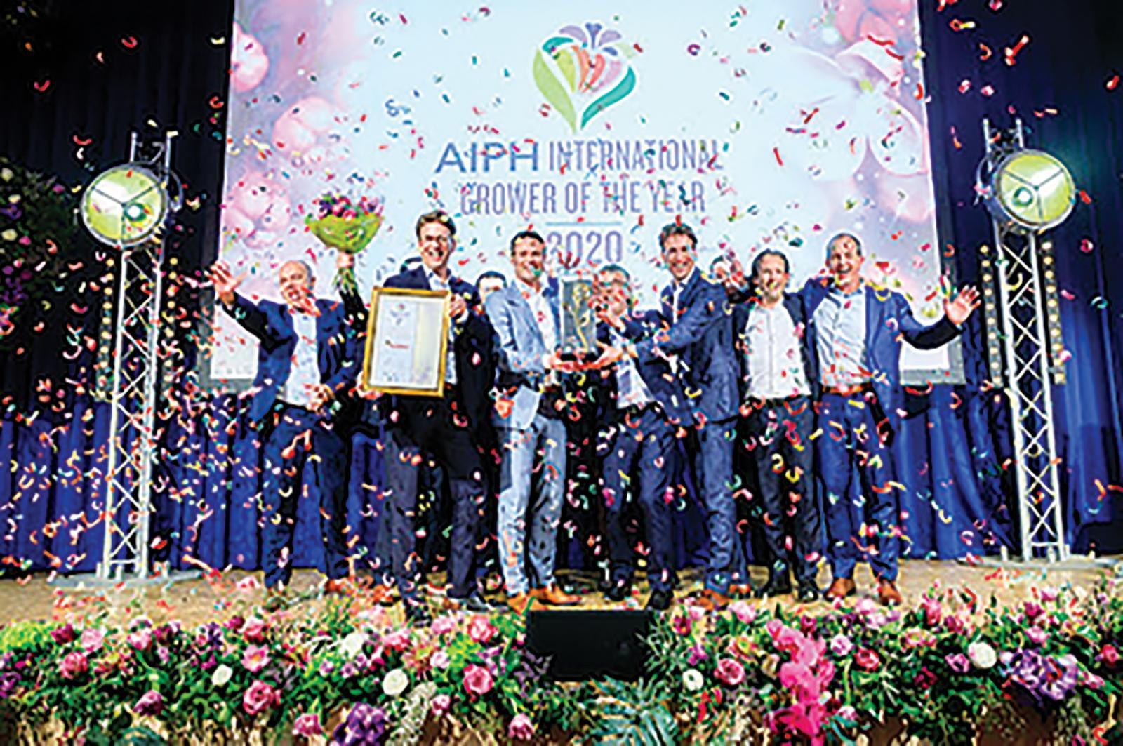 The 2020 AIPH International Grower of the Year Award  was won by Anthura.