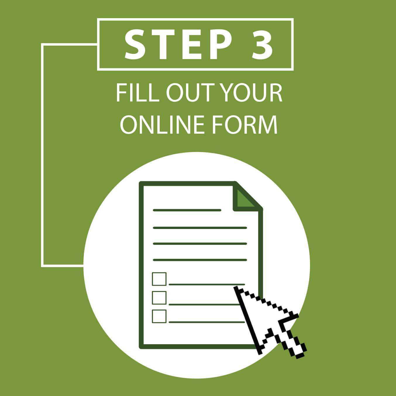 Step 3: Fill Out Your Online Form