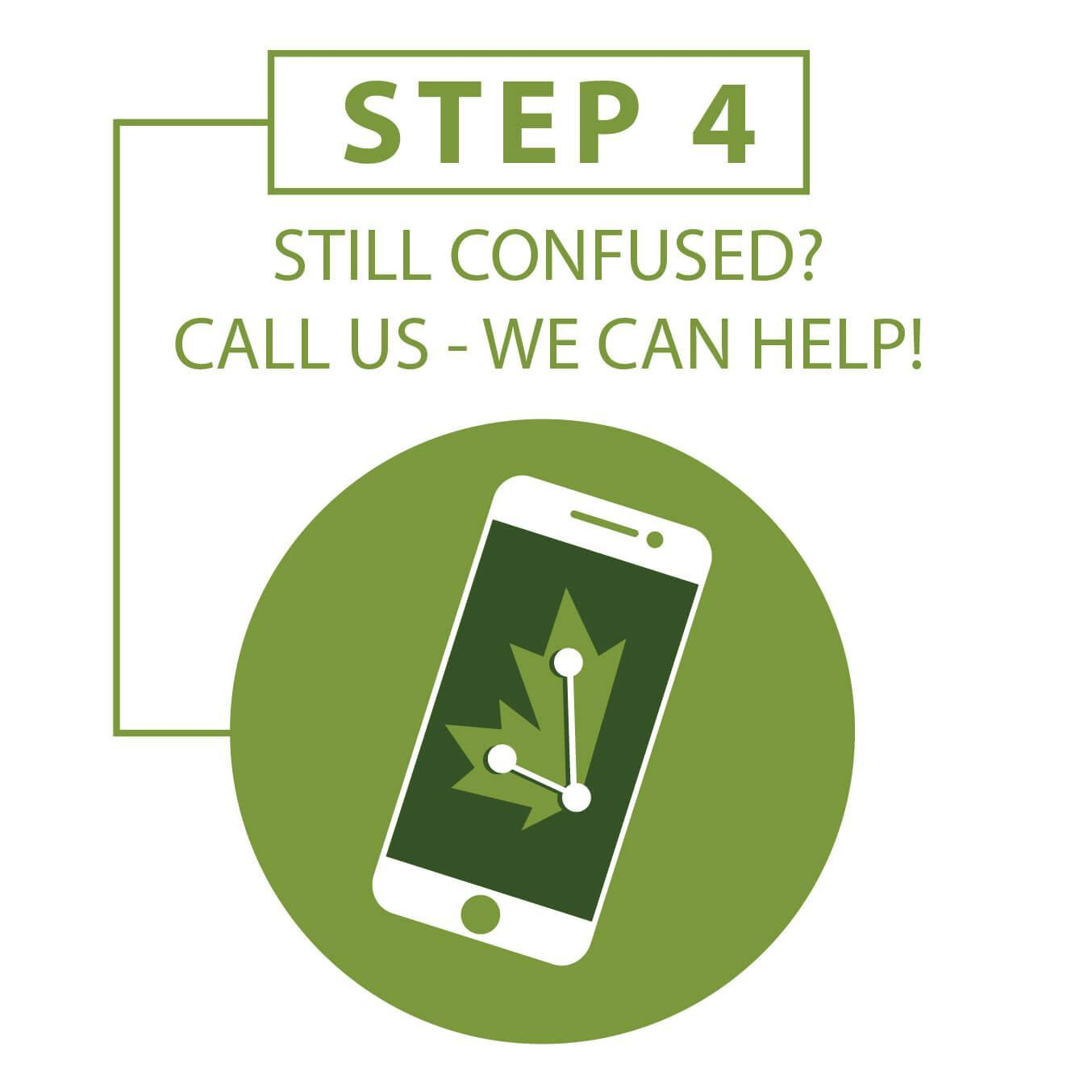 Step 4: Still Confused?  Call us.  We can help.