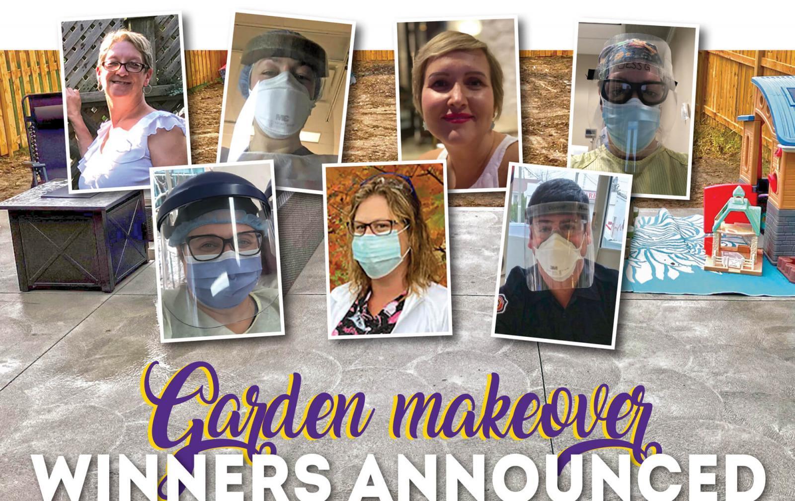 Garden makeover winners announced