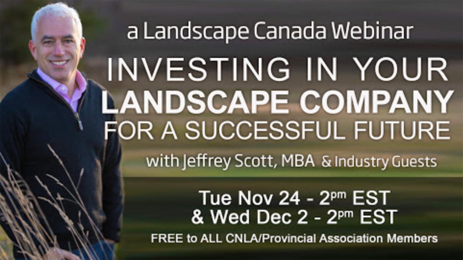 Investing in your landscape company webinar