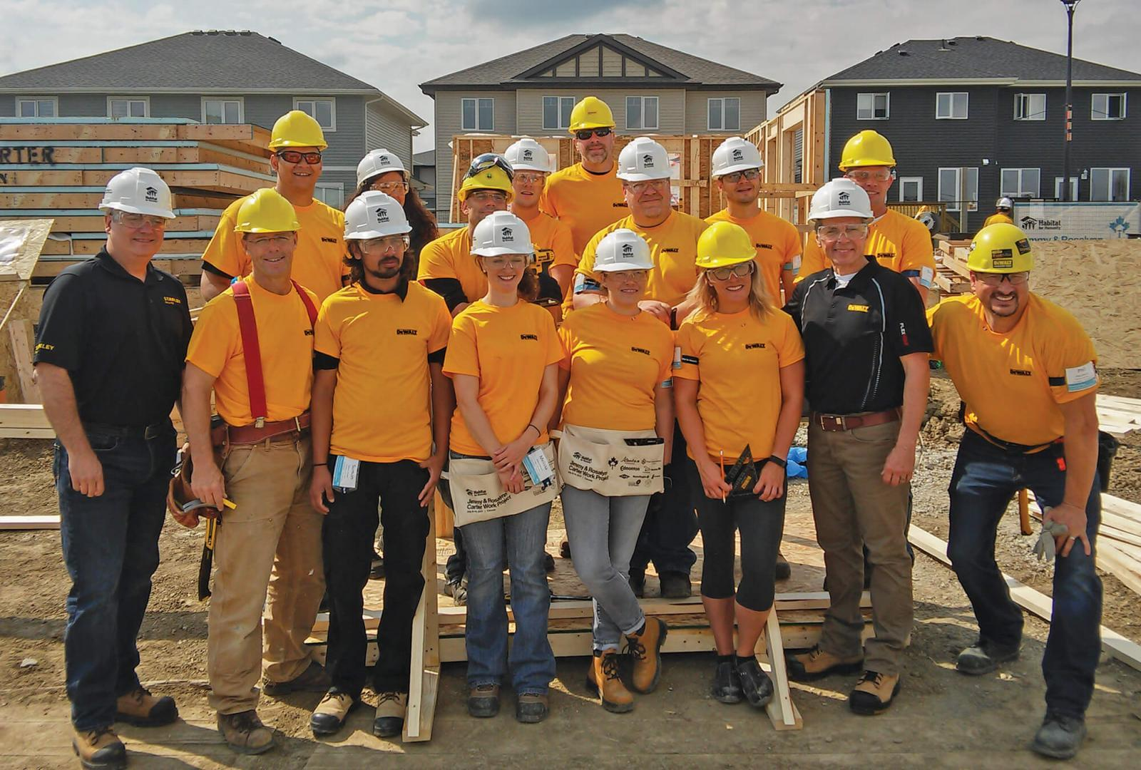 Stanley Black and Decker supports Habitat for Humanity