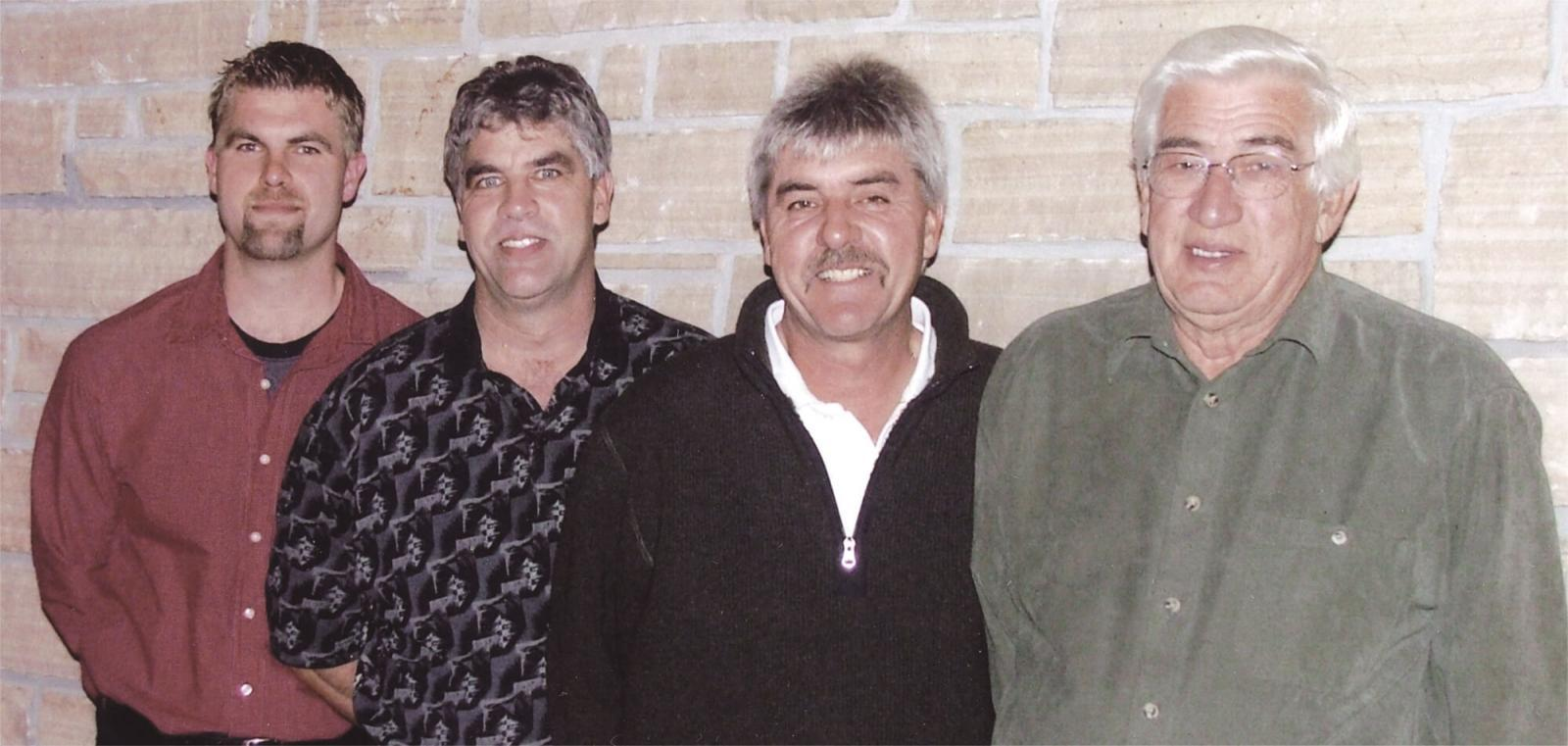 Mark, Rick, Case and Neil Vanderkruk pictured here at the company's 100th anniversary celebration in 2006.