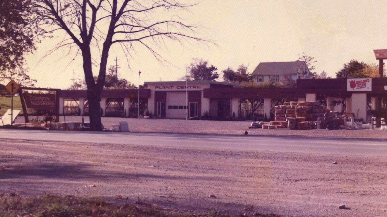 The original garden centre in Waterdown was damaged by fire in the late 1970s.