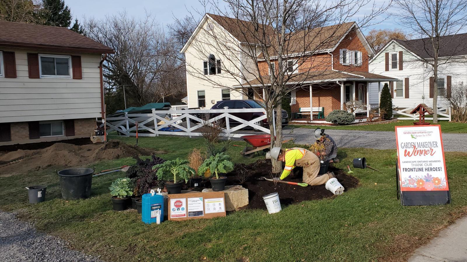 Upper Canada Chapter frontline worker garden makeover