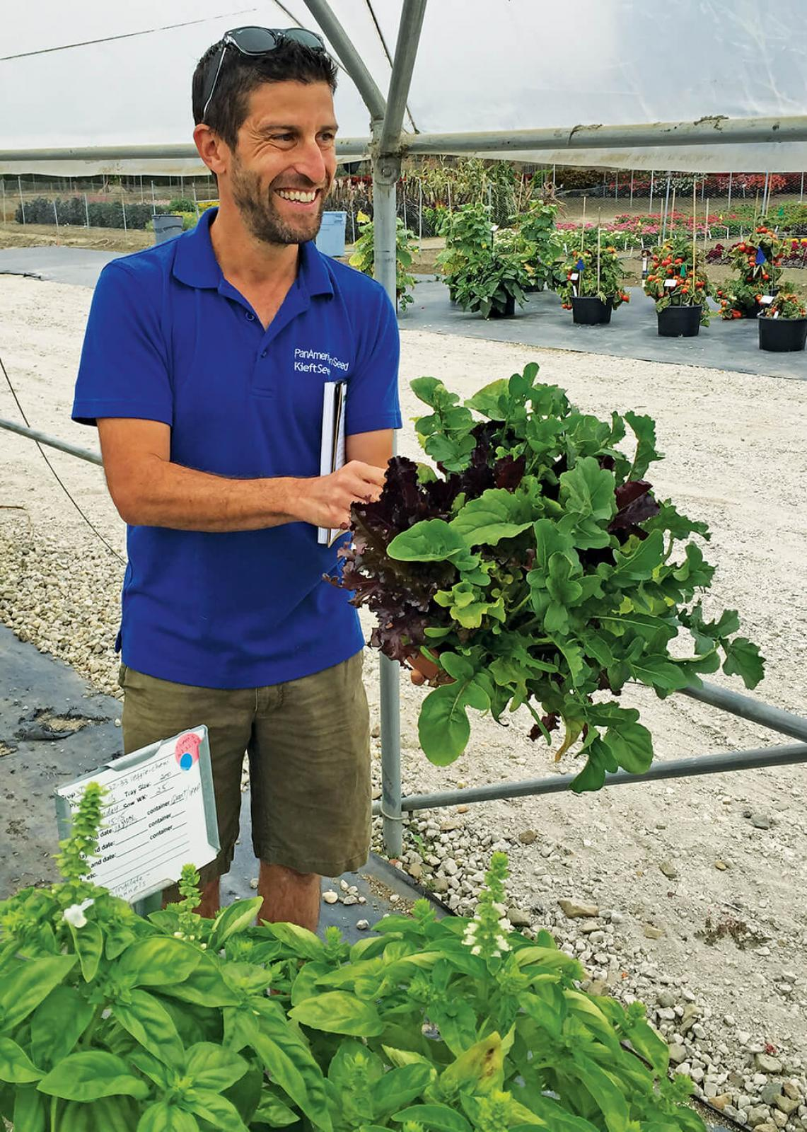 Vegetable trial gardens offer the opportunity  for attendees to visit breeders.