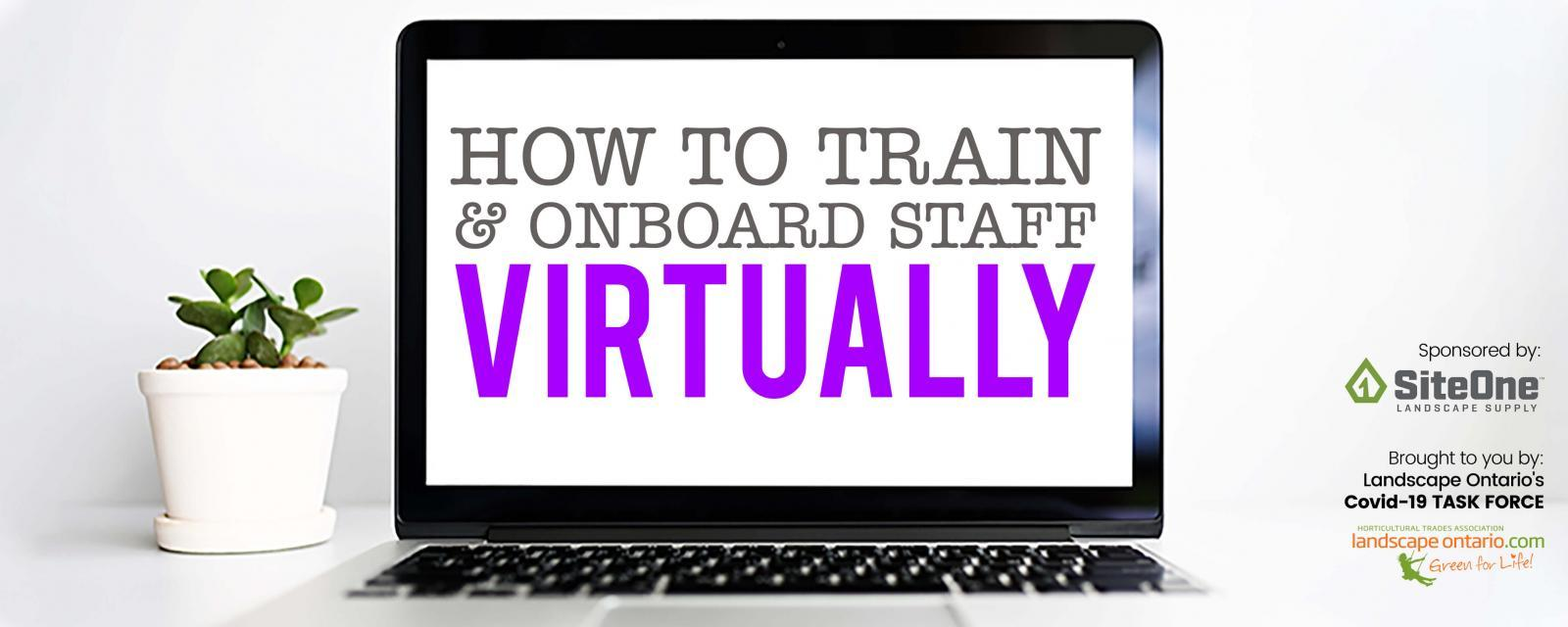 how to train and onboard staff virtually
