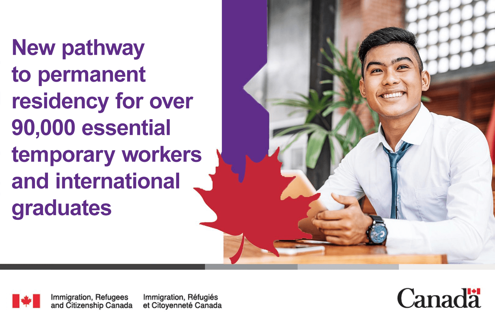 Permanent residence pathway now availabe for up to 90,000 temporary workers
