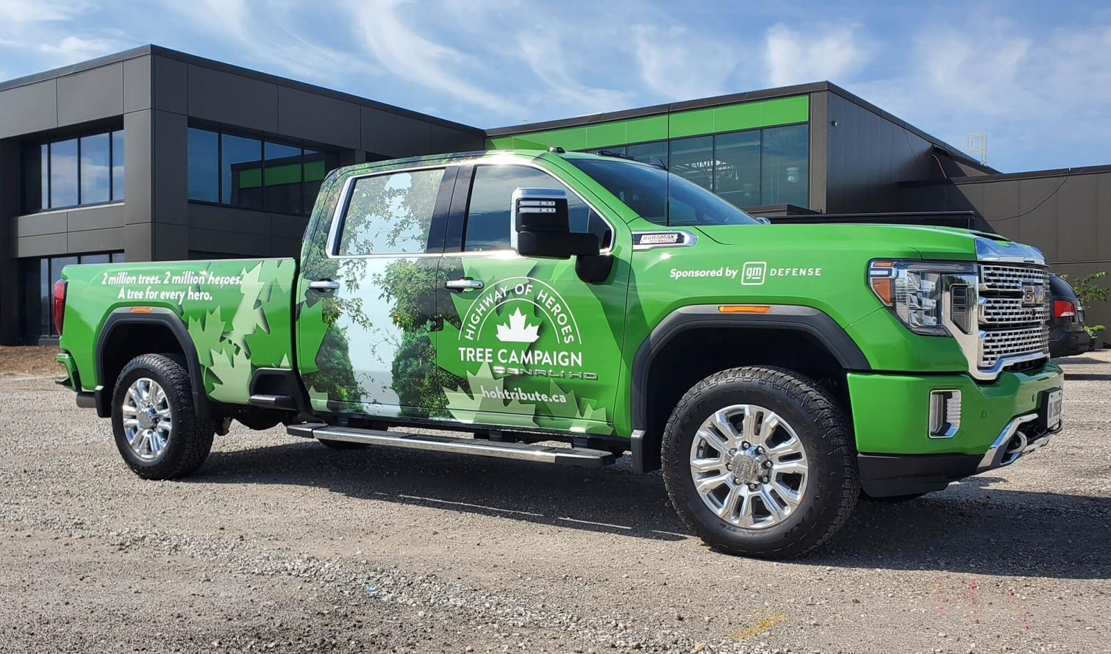 GMC provides new vehicle for tree planting campaign