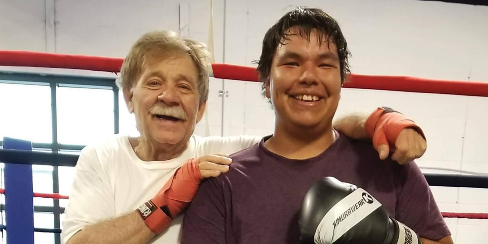 Rod has coached boxing for many years and he plans to continue as long as his legs hold him up.