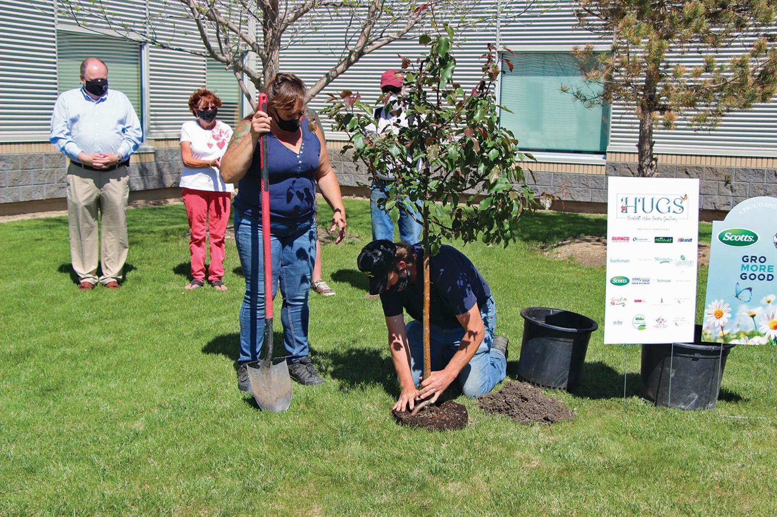 Construction is underway on the Humboldt Urban Garden Sanctuary